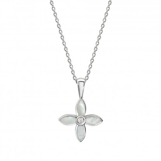 Floral Necklace Silver