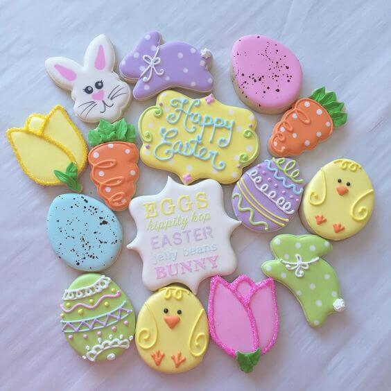 Easter biscuits pastel