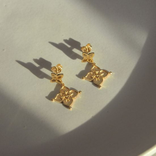 Murkani Gold Earrings Love