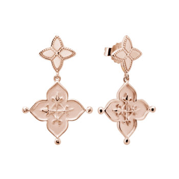 Love earrings rose gold