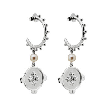 brave earrings silver