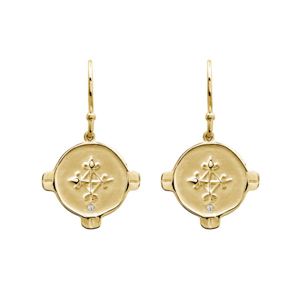 Hope Earrings Yellow Gold