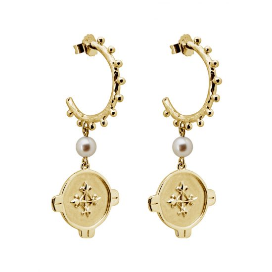 brave earrings yellow gold
