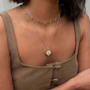 Harmony MOP necklace yellow gold