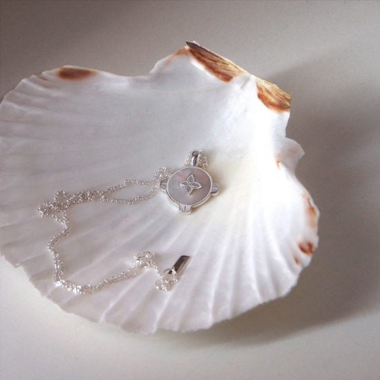 Mother of Pearl Harmony Necklace Sterling Silver