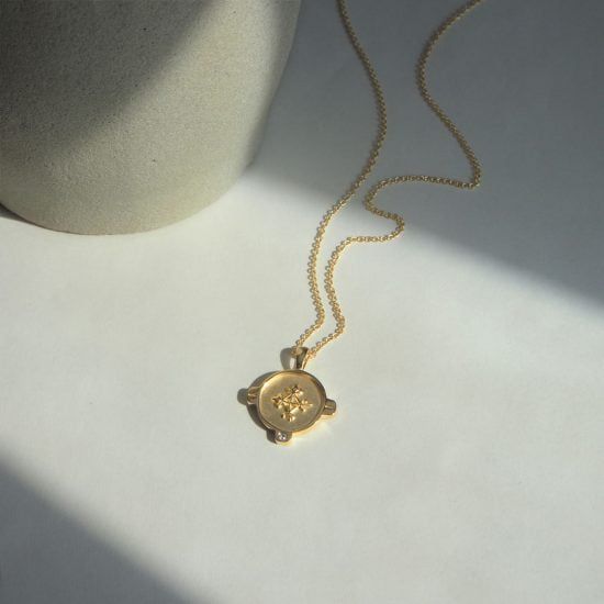 Hope Symbol Necklace Yellow Gold