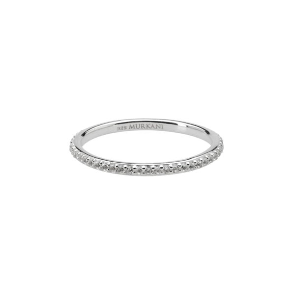 eternity ring-white topaz-SS