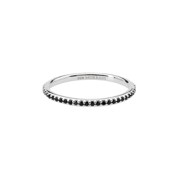 eternity ring-black spinel-SS