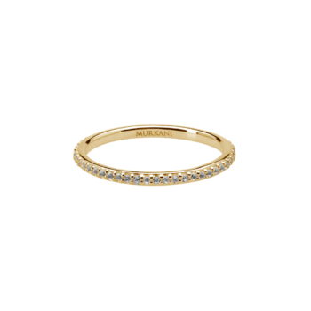eternity ring-white topaz-YG