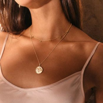 Lover Coin Necklace Gold