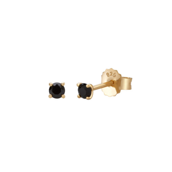 3mm stud black spinel