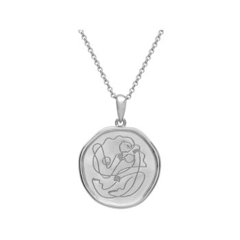 motherhood necklace silver