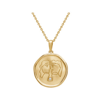 Lover Necklace Yellow Gold