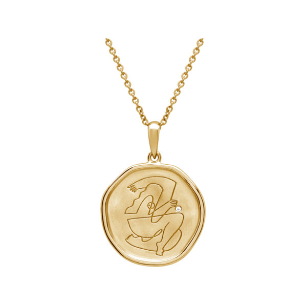 empowerment necklace yellow gold