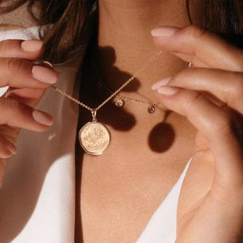 Motherhood Necklace Coin Jewellery Yellow Gold