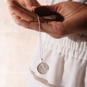 Motherhood Coin Necklace sterling silver